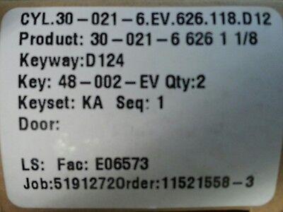 Schlage Mortise Cylinder 30-021 118 D124 Restricted Everest Keyway 626 New..