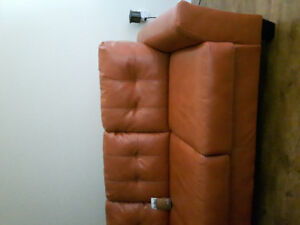 New orange sofa