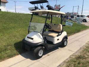 2018 White Club Car Precedent Electric Golf Cart