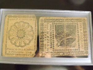 Colonial Continental Currency Pennsylvania 1775 & 1776.  Coinhun