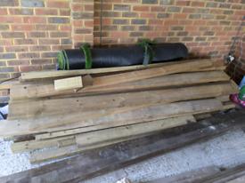 Wood, lots of it! £50