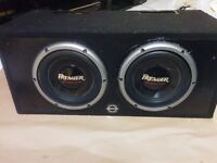 """2 PIONEER 1200W Premier 10"""" Champion Series Subs in Ported Box"""