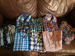 Boys long sleeve and short sleeve dress shirts