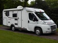 Burstner Travel Van 620G, 2009. Twin Fixed Beds, Rear Garage, Satellite Dome!