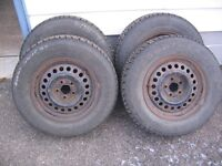 4 winter tires and rims size: 195/70/14