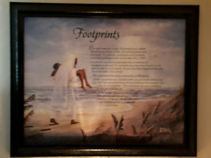 "Famous Spiritual Poem ""Footprints"""