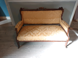 Queen Anne style 2 seater sofa