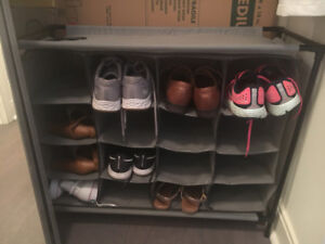 Fabric Shoe Rack with compartments for 16 Pairs