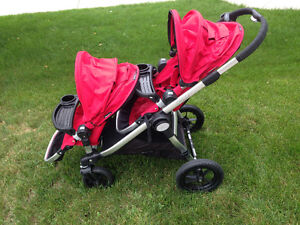 BABY JOGGER – CITY SELECT DOUBLE STROLLER (RUBY) - $680