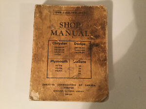 1949-1952 Chrysler Plymouth Dodge DeSoto Shop Manual Canadian