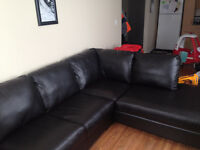 Leather Sectional - 3 months old