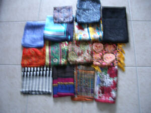 Silk Scarfs in Various Sizes and Colours - New