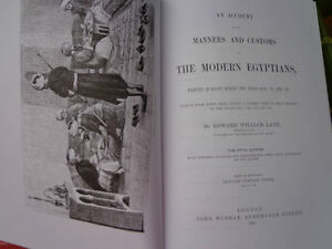 AN ACCOUNT OF THE MANNERS AND CUSTOMS MODERN EGYPTIANS BY EDWARD West Island Greater Montréal image 2