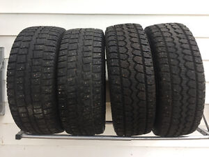 """4 studded winter 18""""tires"""
