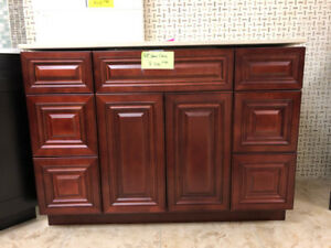 "48"" maple solid wood vanity on CLEARANCE!! get your discount!!"