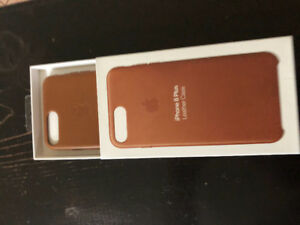iPhone 8 Plus brown leather case