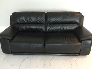 Two Italian leather couches for sale 1000$ takes both