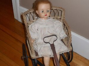 Antique Stroller and doll
