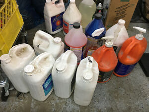 Assorted cleaning chemicals