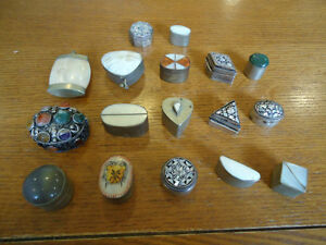 Assorted Vintage Silver & Mother-of-Pearl Cosmetics Boxes West Island Greater Montréal image 1