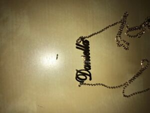 "Name necklace with the name ""Daniella"""