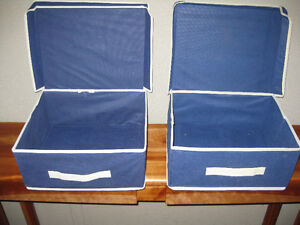 TWO MESH FABRIC STORAGE BOXES