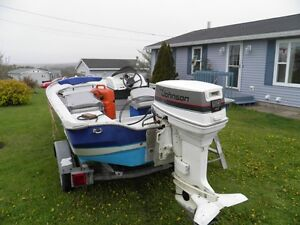 16 Foot Boat Motor and Trailer