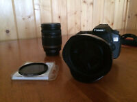 Canon 60D Body + Lens 10-22mm + Lens 18-200mm + Polarizer filter