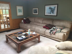 Large Sectional Recliner and Chaise Lounge