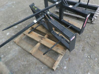 Single Bale Spear skid steer quick attach NEW $295