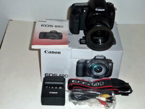 canon 60D DSLR camera/canon 35-80mm lens with carry bag