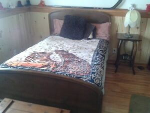 Antique Bedroom Set with bedside table and dresser