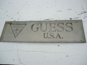 Vintage Guess Jeans USA Metal Signs from jean store Peterborough Peterborough Area image 4