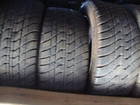WE SALE  GOOD  USED TIRES   have set of 4 tires 265-50-20 and 22
