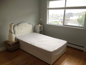 Bed, Mattress, and Headboard - twin size