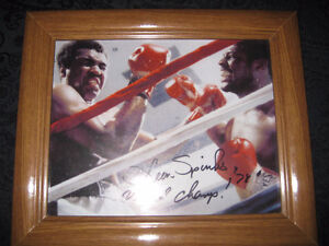 Mohammed Ali and Leon Spinks Picture signed by Leon