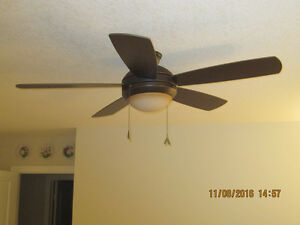 "Brand New Monte Carlo 52"" Discus Ceiling Fan with Light Kit"