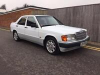 Mercedes-Benz 190E 1.8 E MANUAL WHITE RARE MANUAL, ONLY 45,000 MILES 1993 L REG