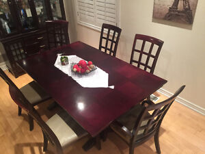 Dining table set for 6 or more with hutch $750 OBO