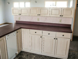 Solid Oak Cabinets for Small Kitchen