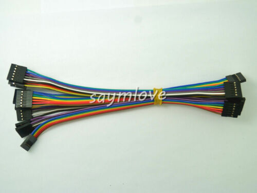 10pcs 6pin 20cm 2.54mm Female to Female jumper wire Dupont cable for Arduino