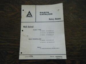 Allis Chalmers Walk Behind Mowers #9002014 Parts Catalog