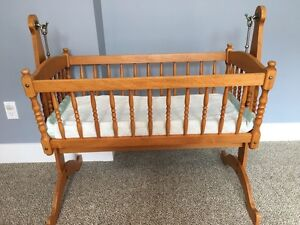 Solid wood vintage cradle