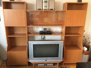 Biblitohèque IKEA + TV HD 16/9 30 pouces