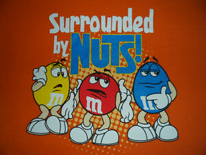 M&M SURROUNDED BY NUTS T-SHIRT, MEN'S SIZE: XL