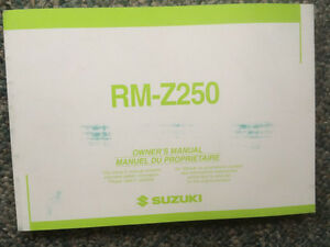 2004 Suzuki RM-Z250 Owners Manual