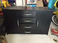 Black sideboard unit