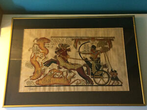 Collectible Egyptian Papyrus art for sale ASAP.Check it out