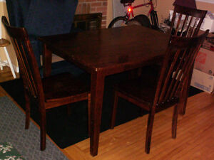 DINING TABLE WITH 3 CHAIRS