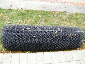 25 feet Black Chainlink ,  5 foot fencing , gate, posts etc